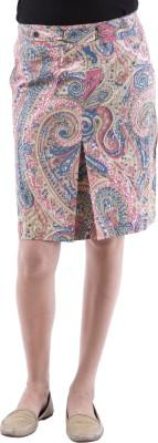 Aarr Paisley Women's Straight Pink Skirt