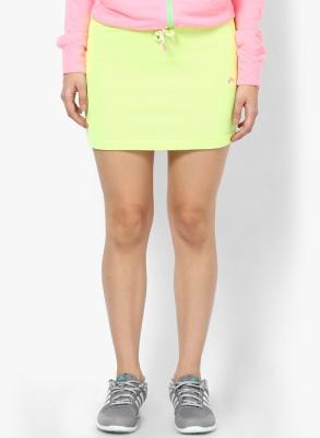 Only Solid Women's Tube Green Skirt at flipkart