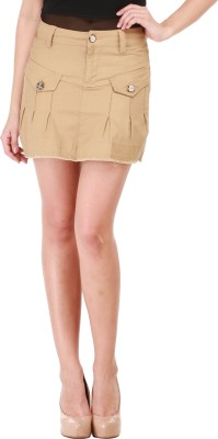 Star Style Striped Women's A-line Brown Skirt