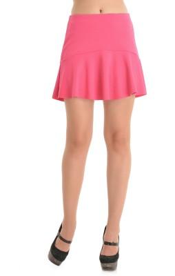 Kazo Embellished Women's A-line Pink Skirt