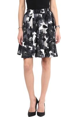 Shopingfever Floral Print Women's A-line Grey Skirt