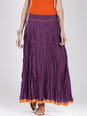 Fabindia Solid Women's A-line Purple Skirt