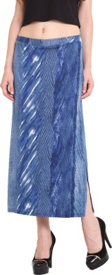 Studio West Printed Women's Regular Blue Skirt