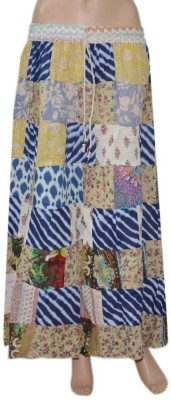Pezzava Checkered Women's Regular Multicolor Skirt at flipkart