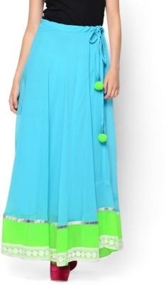 Hoor Solid Women's A-line Light Blue Skirt
