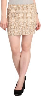 Cottinfab Printed Women's Regular Beige Skirt