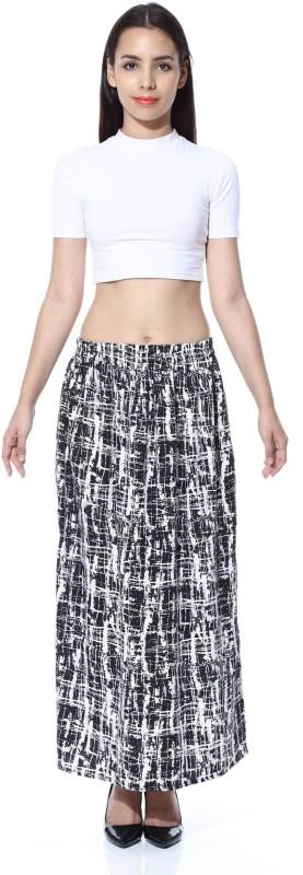 FabnFab Graphic Print Women's Pencil Black, White Skirt