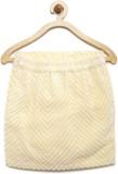 Yk Solid Girls Pencil Yellow Skirt