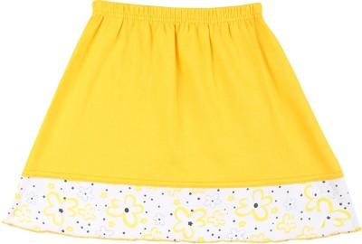 Harsha Floral Print Baby Girl's A-line Yellow Skirt