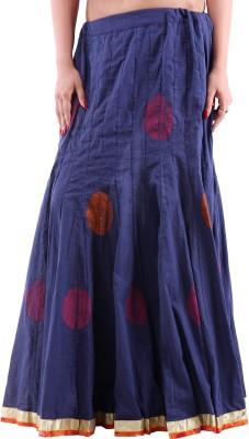 Bhakoshaa Solid Women,s A-line Blue Skirt