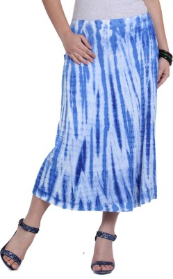 Studio West Printed Women's Regular Blue, White Skirt