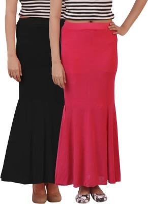 carrol Solid Women's Regular Black, Pink Skirt