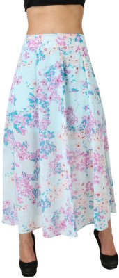 Uptowngaleria Printed Women's Regular Blue Skirt