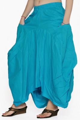 Jaipur Kala Kendra Solid Women's Regular Light Blue Skirt