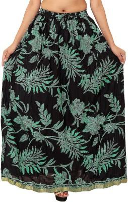 Wardtrobe Printed Women's Regular Green Skirt