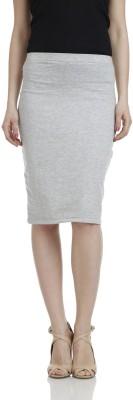James Scot Solid Women's Pencil White Skirt