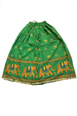 The Handicraft House Printed Women's Pleated Multicolor Skirt