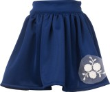 Le Luxe Applique Girls Gathered Blue Ski...