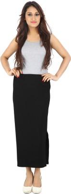 Franclo Solid Women's Pencil Black Skirt