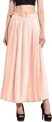 MSMB Solid Women's Regular Pink Skirt