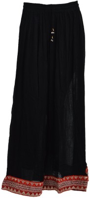 Freedom Daisy Solid Women's Regular Black Skirt