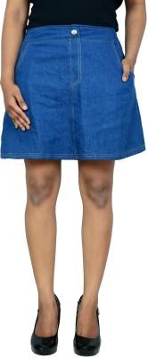 Shopaholic Fashion Solid Women's Regular Blue Skirt