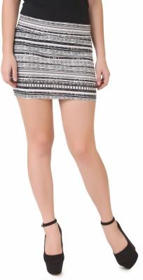 NOD Printed Women's Straight Black, White Skirt