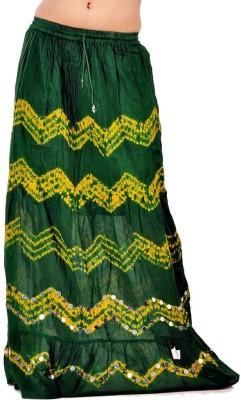 Jaipur Raga Embroidered Women's Regular Green Skirt