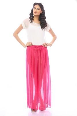 Pinwheel Solid Women's Regular Pink Skirt