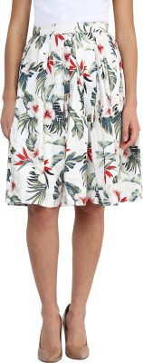 Miss Chase Floral Print Women's Pleated Multicolor Skirt