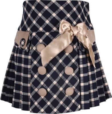 Cutecumber Checkered Baby Girl's A-line Blue Skirt