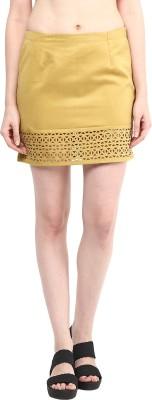 Taurus Solid Women's Pencil Green Skirt