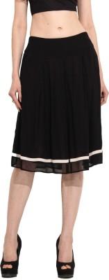 MSMB Solid Women's Regular Black Skirt