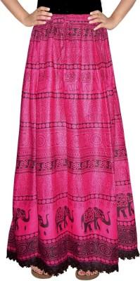 Bright & Shining Printed, Animal Print Women's A-line Pink Skirt
