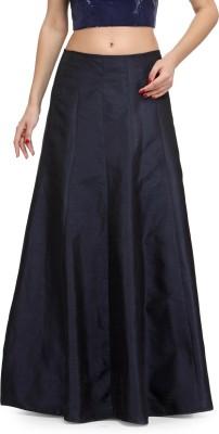 Fashionwalk Solid Women's A-line Blue Skirt