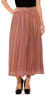 Sugar Her Printed Women's Pleated Red Skirt