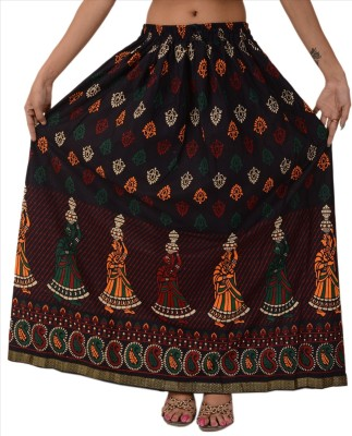 Skirts & Scarves Self Design Women's A-line Multicolor Skirt