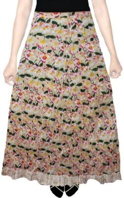 AS42 Floral Print Women's Regular Beige Skirt