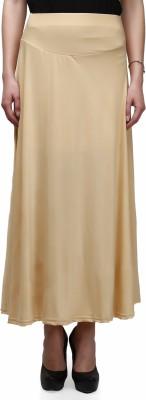 Legis Solid Women's A-line Gold Skirt