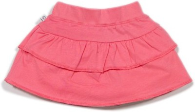 Solittle Solid Baby Girl's Layered Pink Skirt