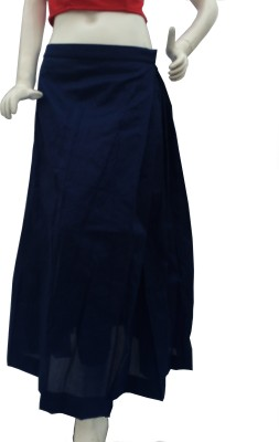 Jupi Solid Women,s Pleated Blue Skirt