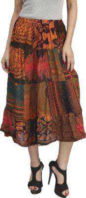 Naitik Printed Women's Regular Yellow Skirt