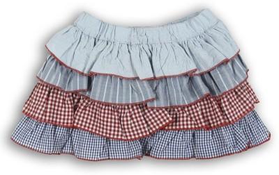 Lilliput Self Design Baby Girl's A-line Blue Skirt