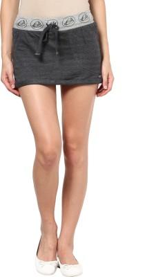 Remanika Solid Women,s Tube Grey Skirt