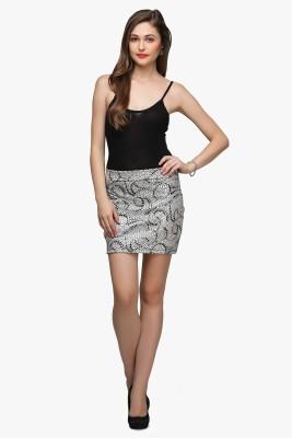 Cation Printed Women's Tube Silver Skirt