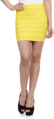 N-Gal Striped Women's Pencil Yellow Skirt