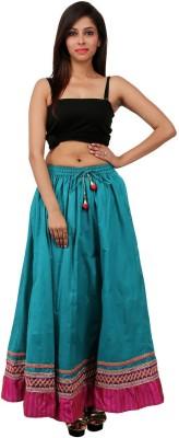 Sunshine Solid Women's A-line Green Skirt