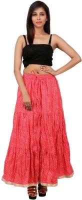 Sunshine Self Design Women's A-line Pink Skirt