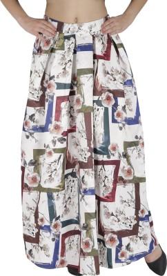 Svt Ada Collections Graphic Print Women,s Regular White Skirt