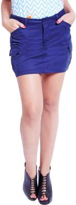 Globus Solid Women's Regular Blue Skirt